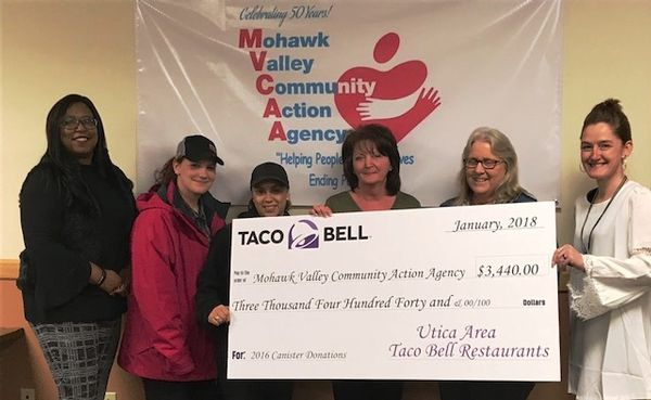 MVCAA's Angel Program Receives Donation from Taco Bell